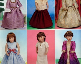 """Simplicity 18"""" Doll Clothes Sewing Pattern 0635 UNCUT - Fits American Girl Our Generation Carpatina Gotz Dolls - Dress Nightgown Skirt Top"""