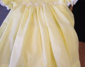 3-6 mo yellow hand smocked infant dress