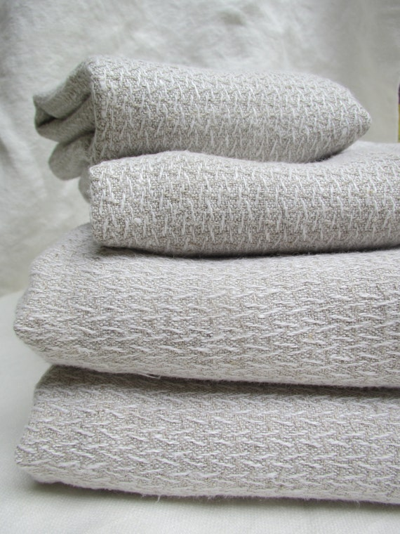 Romanian Hemp Bath Towels Set Of Two Towels Lustrous And