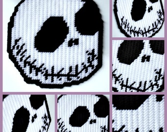 Nightmare before Christmas the Pumpkin King Jack Skellington Inspired  Magnet made from plastic canvas and yarn
