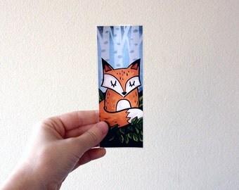 Cute Adorable Sleeping Fox Nature - Laminated Art Bookmark