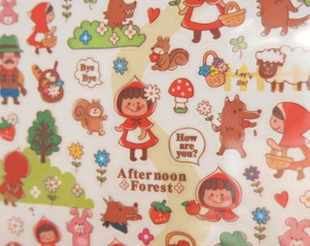 Little Red Riding Hood Sticker (1 sheet)