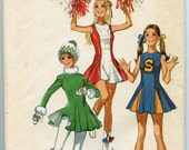 1970s Simplicity 9645 Vintage Sewing Pattern Young Juniors Teens Dress and Panties for Cheerleaders or Skaters