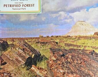 Vintage Arizona Highways Magazine, published 1967, Petrified Forest National Park