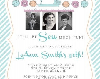 Sew Much Fun Invitation