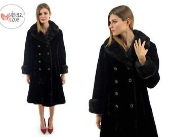 Vintage Faux Fur Mod Coat / Vintage 60s Coat / Faux Fur Coat • sm • md