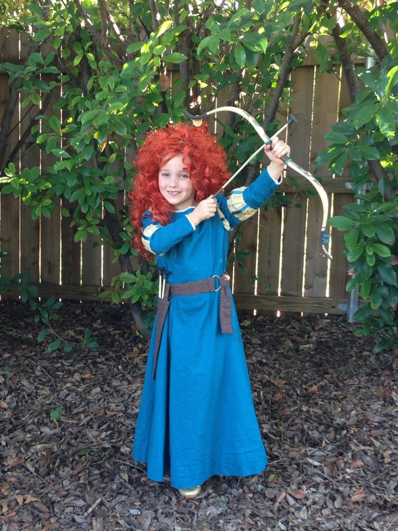 Merida Archery Dress and Belt - Sizes 2T, 3T, 4T, 5, 6, 7, 8 and 10