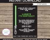 Star Wars Invitation - INSTANT DOWNLOAD - Editable File you personalize at home with Adobe Reader - great for children or adult parties