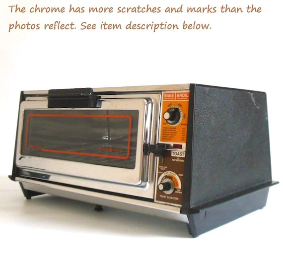 Toaster Oven Vintage Chrome Ge General Electric By