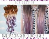 Handmade Brown, Blonde, Auburn, Blonde, Ombre Dip Dyed Hair, You pick the colors, Custom Hair Extensions, Human Hair, Clip In Hair, Rainbow