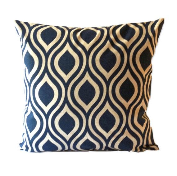 SET OF TWO 16x16 or 18x18 Lattice Print Decorative Pillow Cover - Medium Weight Cotton- Invisible Zipper Closure