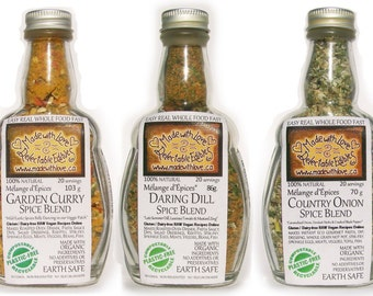 Five Pack of Eco Artisan Spice Blends Gift Set - Gluten Free Dairy Free Vegan - Food Market  - Herbs & Spices