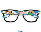 Adventure Time frames with Finn and Jake - unique hand painted glasses