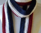 Super-long French Flag Scarf