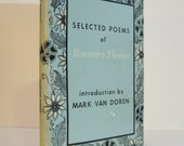Seleted Poems of Rosemary Thomas, with an Introduction by Mark Van Doren 1968 Vintage Book