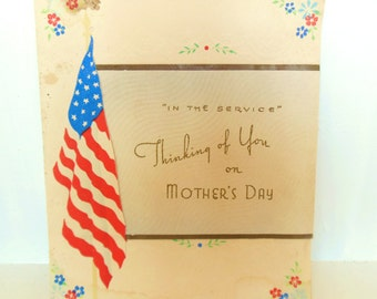 Vintage WWII Service Mother's Day Card Paper Ephemera Signed 1940's (item 12)