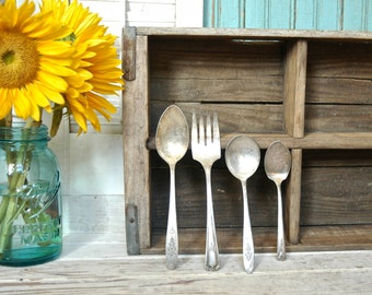 Vintage Silver Spoons Fork Knife Serving Assorted Collection - Silverware Flatware Utensils
