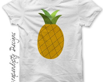 Pineapple Iron on Transfer - Iron on Pineapple Shirt PDF / Kids Baby Tropical Tshirt / Toddler Florida Shirt / Womens Vacation Shirt IT511