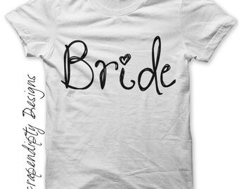Iron on Personalized Bride Shirt - Wedding Iron on Transfer / Women Bride Wedding Shirt / Wedding Day Clothes / Bachelorette Party IT414-R