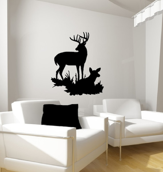 Deer wall decal vinyl wall decal deer style i fathers for Deer wall decals