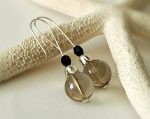 Smoky Quartz Earrings - Stone Dangle Earrings