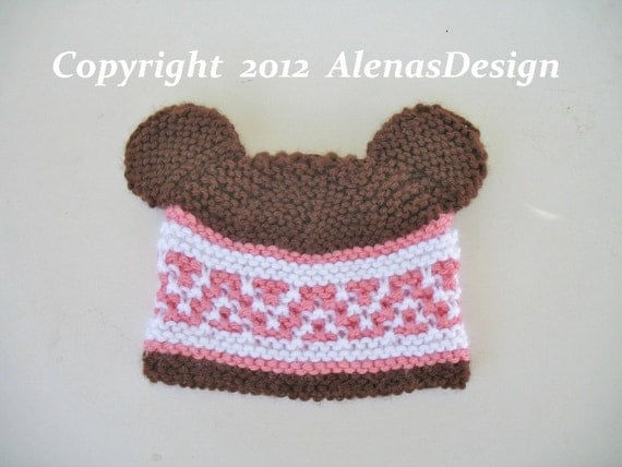 Knitting Pattern For Beanie With Ears : Knitting Pattern 018 Beanie & Ear Flap Hats with by ...
