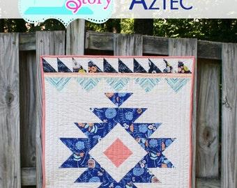 PDF Modern quilt Pattern Modern Aztec Quilt Pattern: Urban Aztec Instant Download