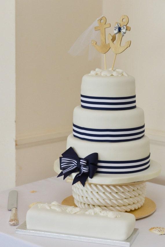 Anchors Away Wedding Cake Topper Anchors Boat Wedding Cake