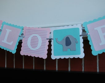Hello Baby Banner, Elephant Baby Shower, Gender Reveal, Elephant Decorations