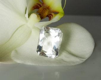 Herkimer Diamond Loose Emerald Cut Gemstone Mine Direct