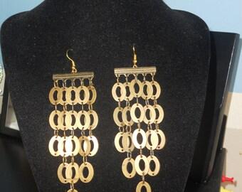 Apollo's Light Brass Earrings