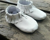 Handmade Lambskin, Infant Moccasins--- Newborn Shoe, Child's Moccasins, Leather Moccasins--- Custom Made