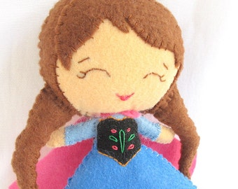 Disney Frozen Princess Anna Felt Doll from Disney Frozen Movie