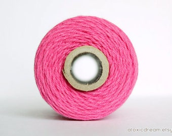 Solid Hot Pink Sorbet - 20yds - by The Twinery