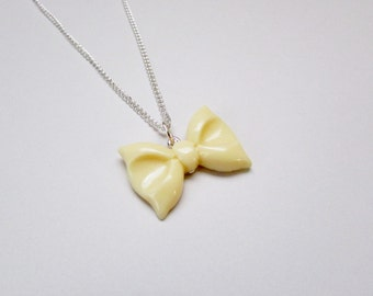 Yellow Bow Necklace