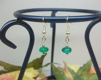 Green Jade Earrings Emerald Earrings Green Earrings 14k Gold Filled Earrings Sterling Silver Earrings Dangle Earrings Jewelry Buy3+1Free
