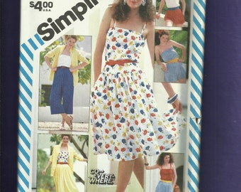 Vintage 1983 Simplicity 5920 Fun in the Sun Wardrobe Pattern  Sizes 14 UNCUT