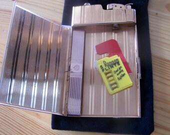 """Vintage 50 's """"EVANS CIGARETTE CASE """" with Lighter & Ronson Flints"""
