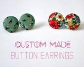 Circle Earrings - Custom Made Handmade Christmas Gifts For Her