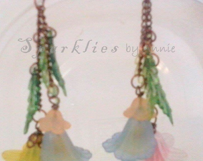 Spring Floral Dangle Earrings