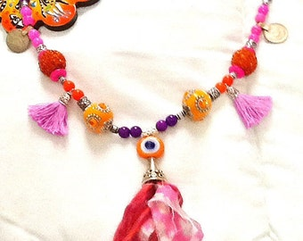 SALE------ BOLLYWOOD DIVA necklace- Ethnic necklace- Tribal necklace- Bohemian necklace-Gypsy Necklace
