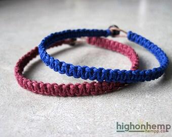Couples Bracelet, Hemp Bracelet, Minimalist Bracelet, His and Her Bracelet