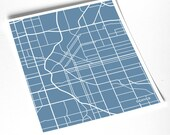 Denver City Map Print / Colorado Poster Art / 8x10 / Available in any color