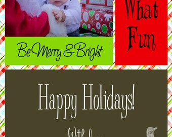 Be Merry & Bright Christmas Card Template 5x7