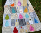 RESERVED FOR CHRISTINA Do not purchase if you are not Christina Mid Century Modern Handmade Quilt Modern Hipster Unusual Lap Quilt