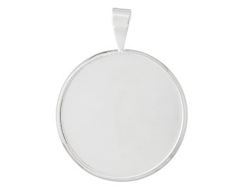 20 Cabochon Frames - Silver - Holds 20mm - 29x22mm- Ships IMMEDIATELY - SC1092a