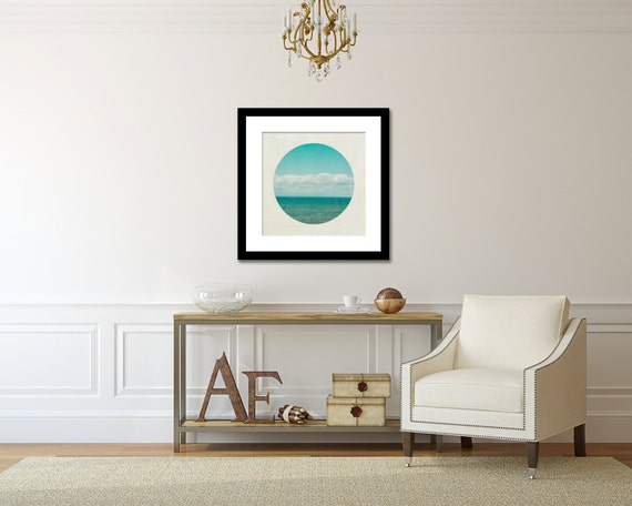 Wall Decor For Lake House : Blue ocean photograph aqua lake house decor large wall art