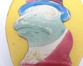 Old German Halloween Embossed Frog Noisemaker Clapper