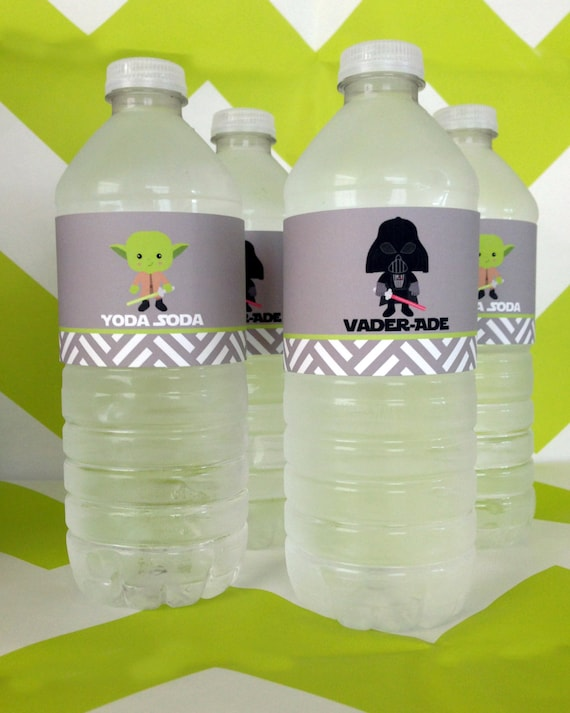 Star Wars Bottle Wrappers  - Digital files - Party Supplies - INSTANT DOWNLOAD