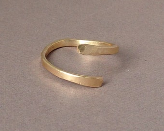 Gold Fill Twisted Hammered Ring also in Rose Gold and Sterling Silver